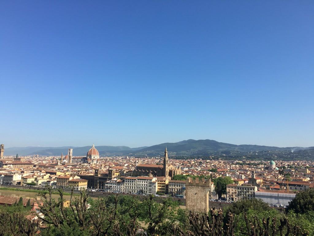 Вид на Флоренцию со смотровой площадки