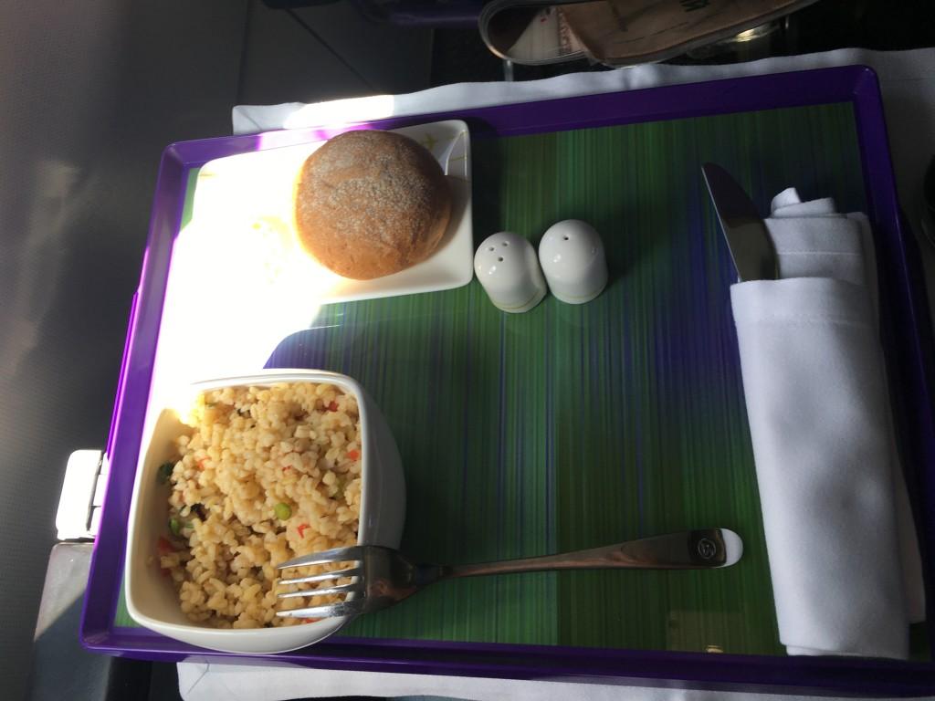 Закуска для бизнес-класса была слабовата