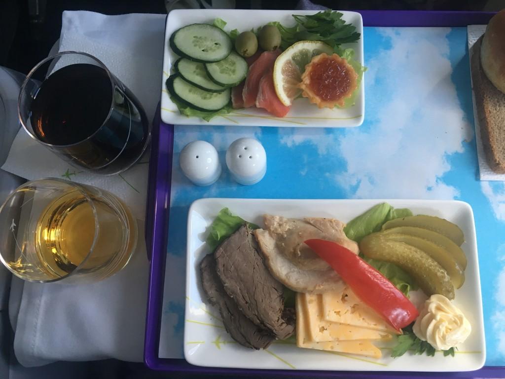 Питание в бизнес-классе S7