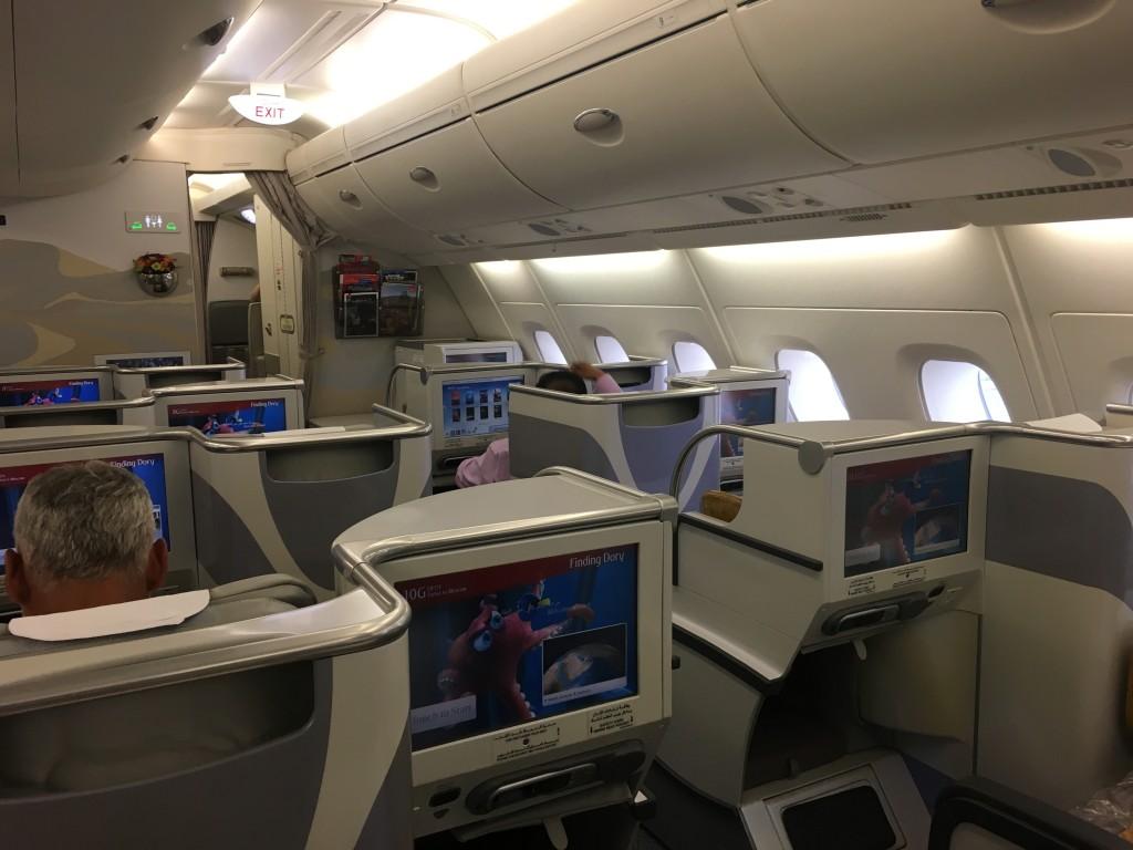 Салон бизнес класса A380 авиакомпании Emirates