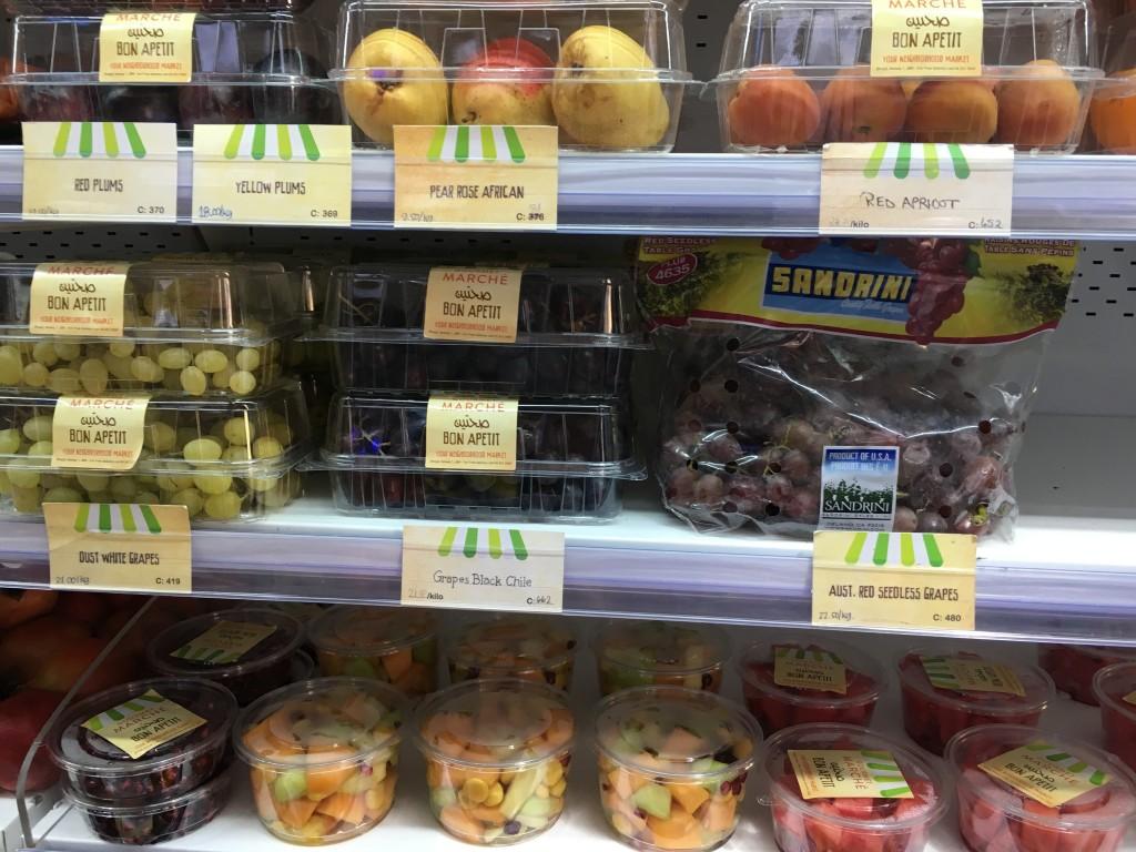 Цены на фрукты в супермаркетах в Дубае