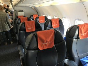 Салон бизнес-класса Аэрофлот