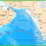 Аравийское море – карта рельеф и течения аравийского моря