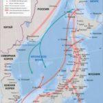 Японское море – карта, течения, глубина и приливы японского моря