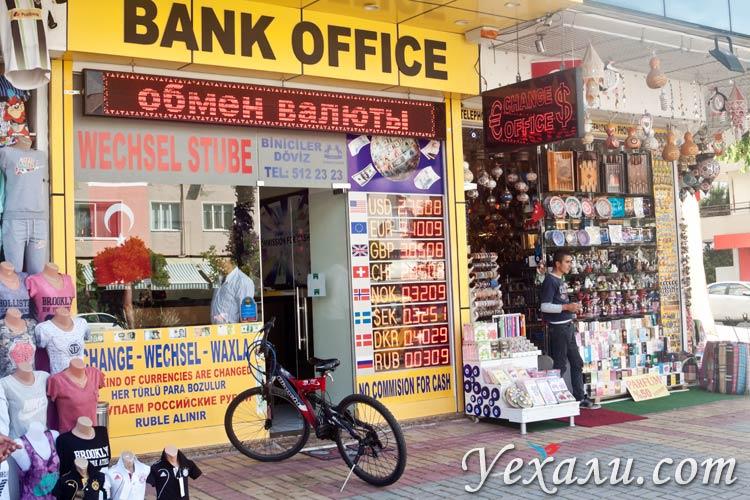 обмен валют в турции на сегодня