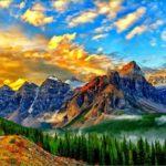 Парк банф – заповедник около города банф провинция альберта в канаде