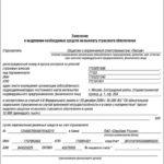 Заявление о выделении средств на выплату страхового обеспечения. образец