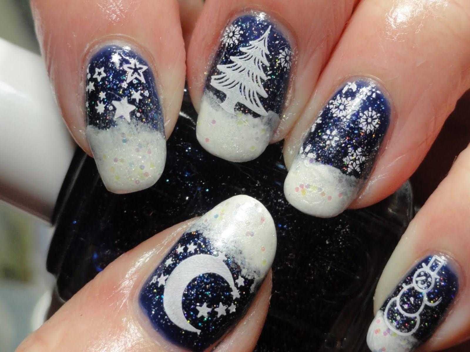 может красивые на новый год ногти первом